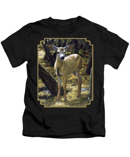 Mule Deer Fawn - Monarch Moment Kids T-Shirt
