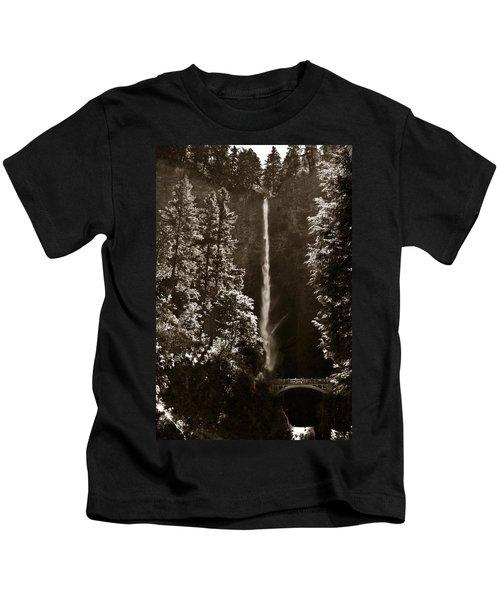 Multnomah Falls Kids T-Shirt