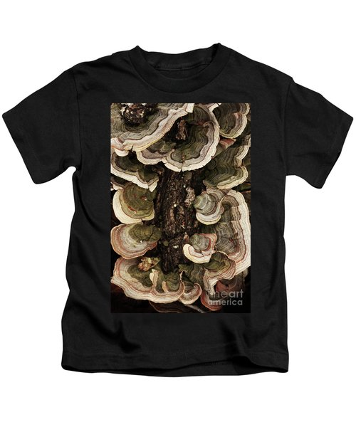 Mushroom Shells By The Lake Shore Kids T-Shirt