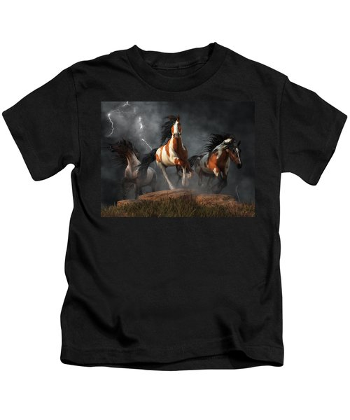 Mustangs Of The Storm Kids T-Shirt