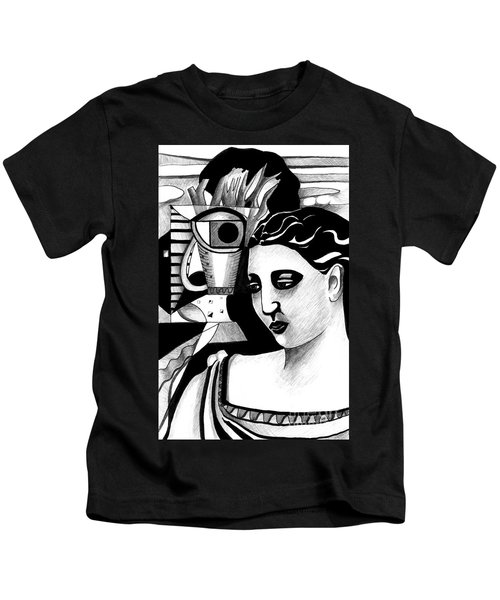 My Outing With A Young Woman By Picasso Kids T-Shirt