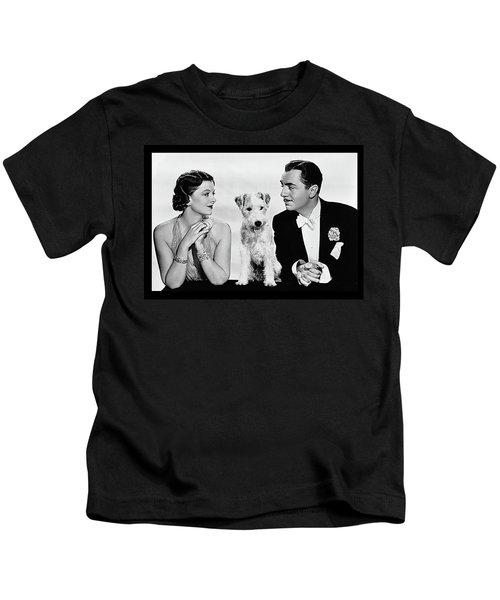Myrna Loy Asta William Powell Publicity Photo The Thin Man 1936 Kids T-Shirt