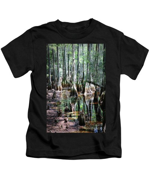 Mysterious Cypress Swamp Kids T-Shirt