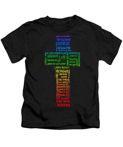 Names Of Jesus Cross Kids T-Shirt