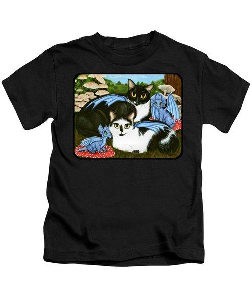 Nami And Rookia's Dragons - Tuxedo Cats Kids T-Shirt
