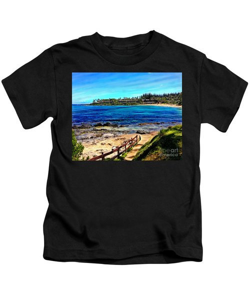 Napili Beach Gazebo Walkway Kids T-Shirt