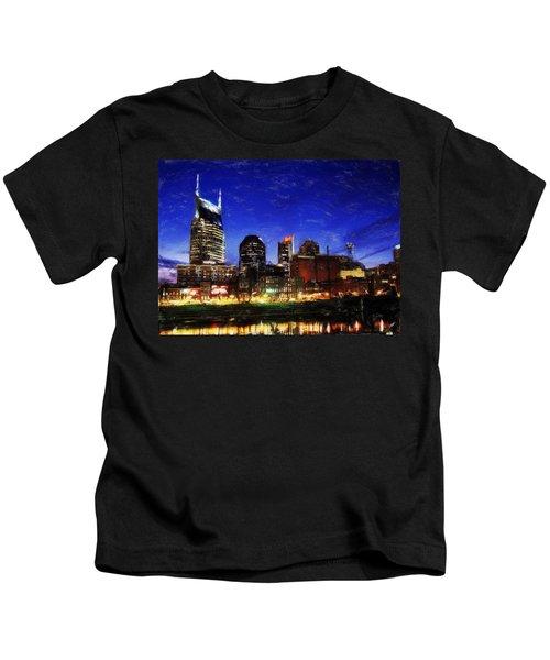 Nashville At Twilight Kids T-Shirt
