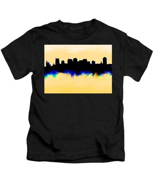 Nashville  Skyline  Kids T-Shirt by Enki Art
