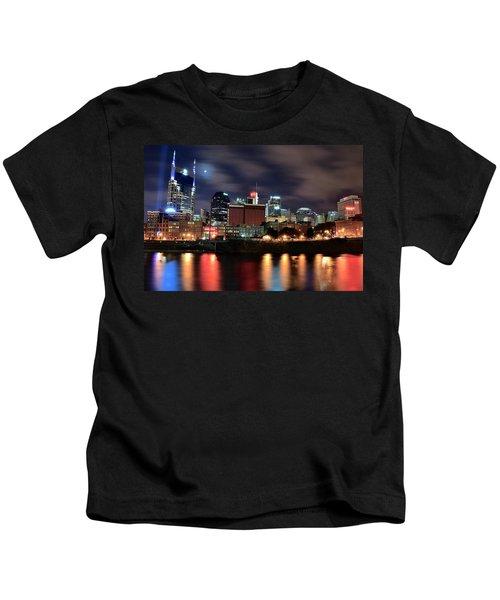 Nashville Skyline Kids T-Shirt by Frozen in Time Fine Art Photography