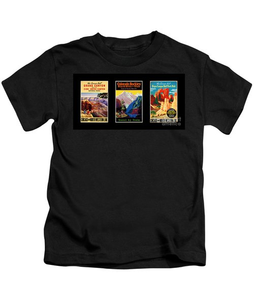 National Parks Posters Kids T-Shirt