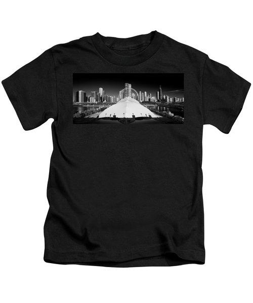 Navy Pier Wheel Kids T-Shirt