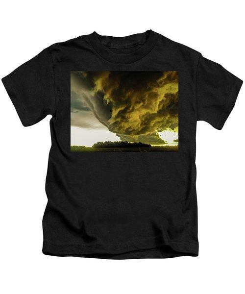Nebraska Supercell, Arcus, Shelf Cloud, Remastered 018 Kids T-Shirt