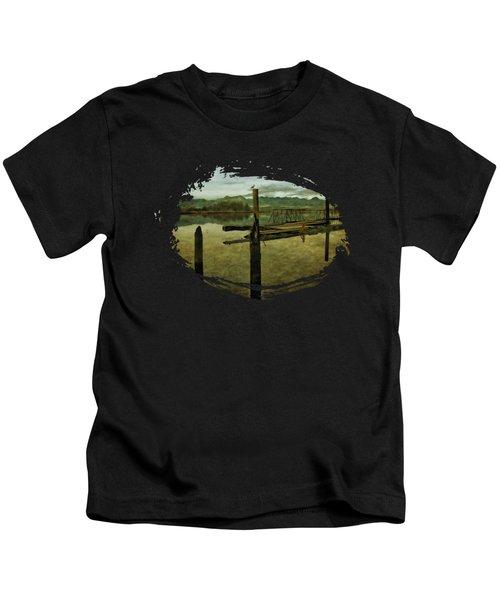 Nehalem Bay Reflections Kids T-Shirt by Thom Zehrfeld