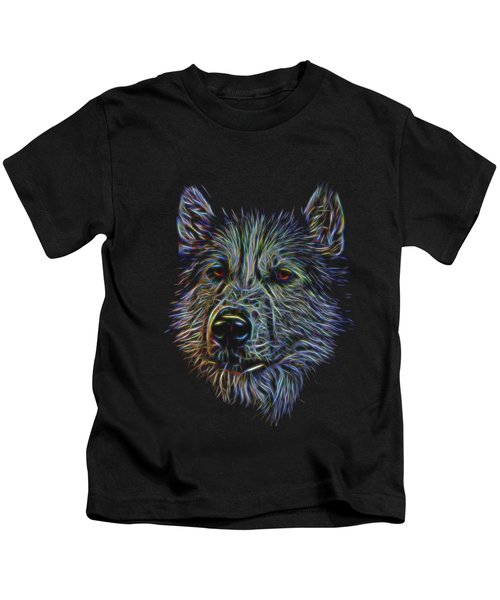 Neon Husky Kids T-Shirt