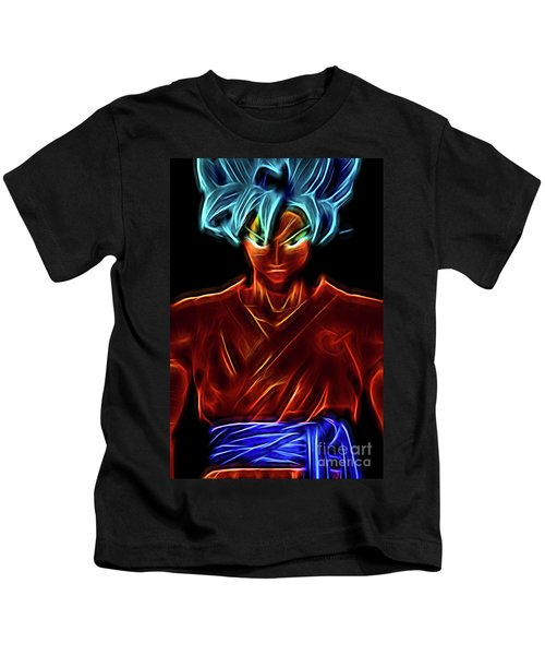 Neon Ss God Goku Kids T-Shirt