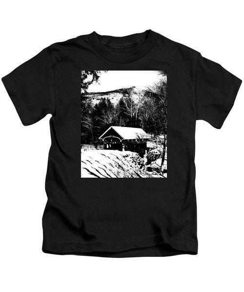 New Hampshire Covered Bridge Kids T-Shirt