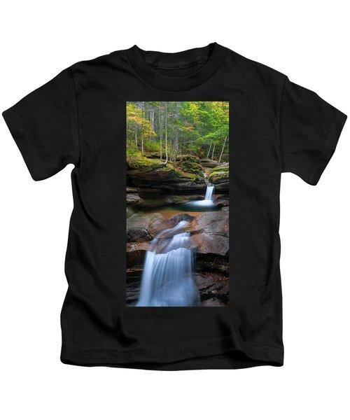 New Hampshire Sabbaday Falls Panorama Kids T-Shirt