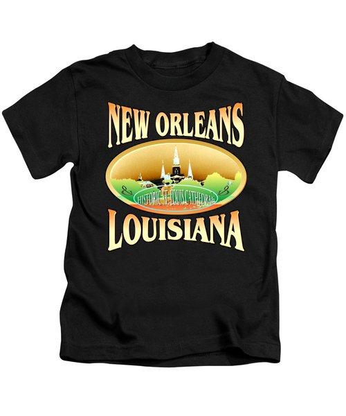 New Orleans Louisiana Design Kids T-Shirt