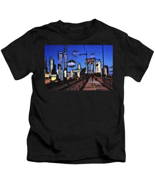 New York Blue - Modern Art Painting Kids T-Shirt