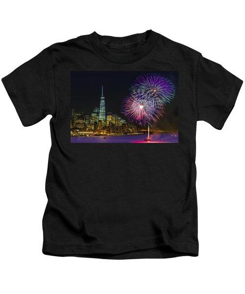 New York City Summer Fireworks Kids T-Shirt