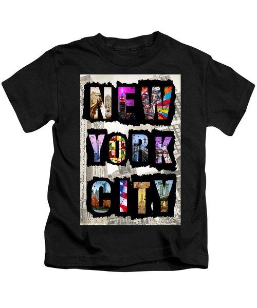 New York City Text Kids T-Shirt