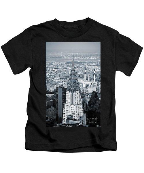 New York City - Usa - Chrysler Building Kids T-Shirt