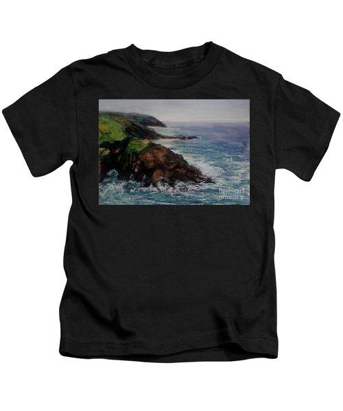 Newlyn Cliffs 2 Kids T-Shirt