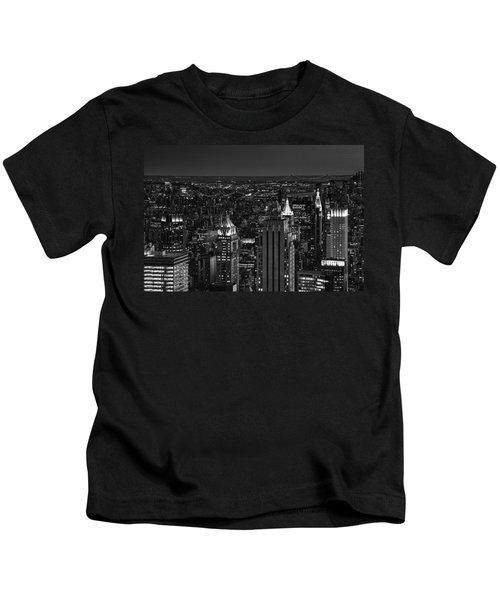 Night In Manhattan Kids T-Shirt