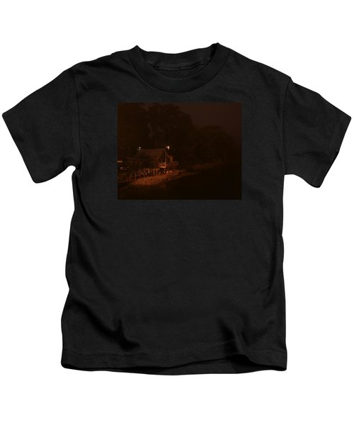 Night On The River Kids T-Shirt
