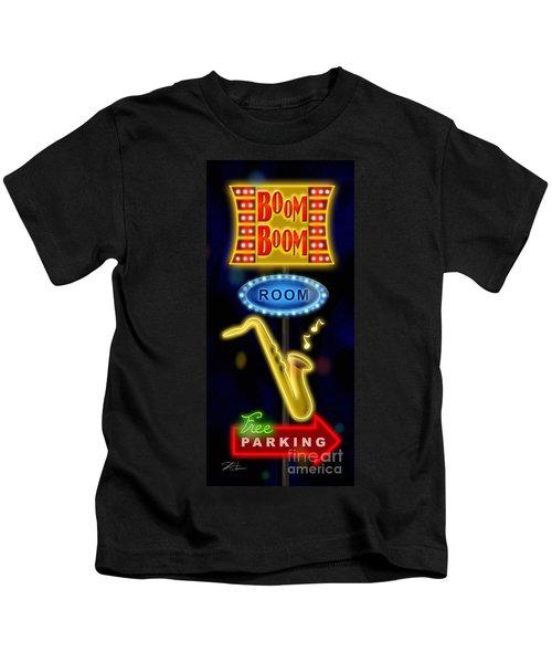 Nightclub Sign Boom Boom Room Kids T-Shirt