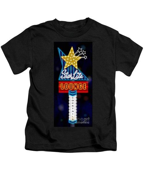 Nightclub Sign Starlite Lounge Kids T-Shirt