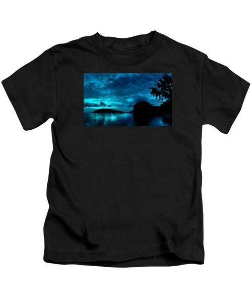 Nightfall In Mauritius Kids T-Shirt