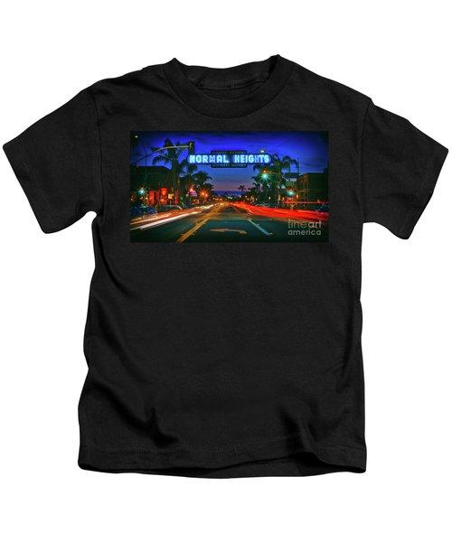 Nighttime Neon In Normal Heights, San Diego, California Kids T-Shirt