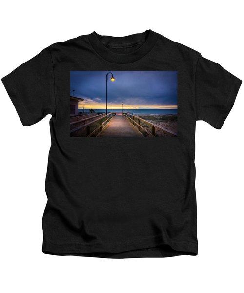 Nighttime Walk. Kids T-Shirt