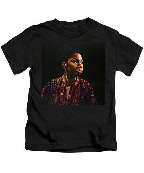 Nina Simone Painting Kids T-Shirt