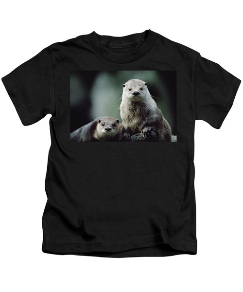 North American River Otter Lontra Kids T-Shirt by Gerry Ellis