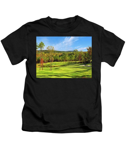 Kids T-Shirt featuring the photograph North Carolina Golf Course 14th Hole by Marian Palucci-Lonzetta