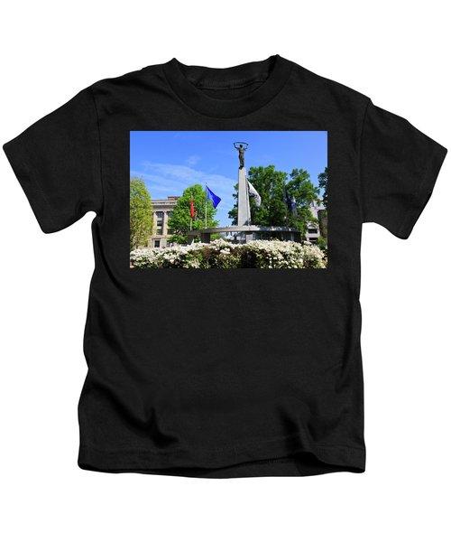 North Carolina Veterans Monument Kids T-Shirt