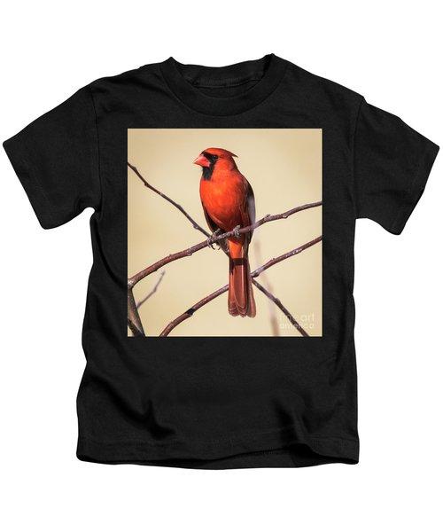 Northern Cardinal Profile Kids T-Shirt