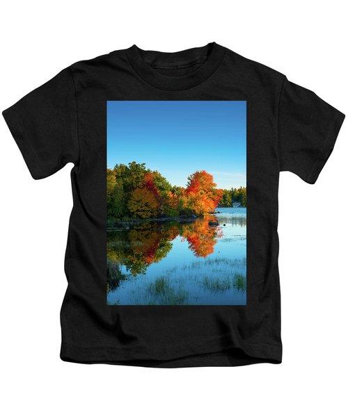 Northwood Lake Autumn Kids T-Shirt