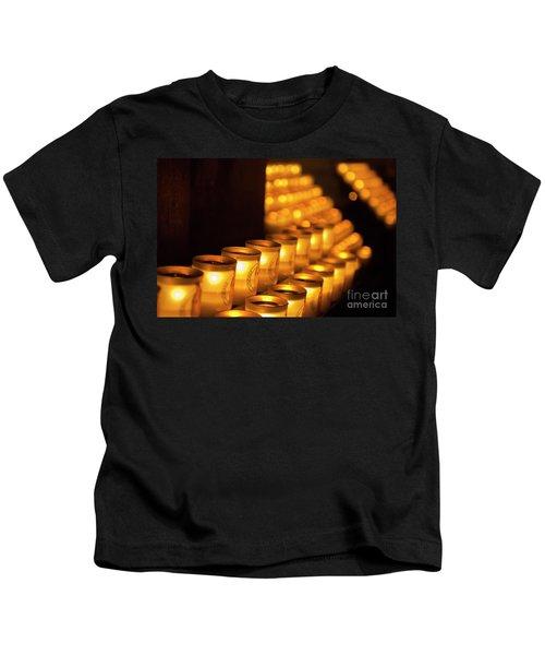 Notre Dame Candles Kids T-Shirt