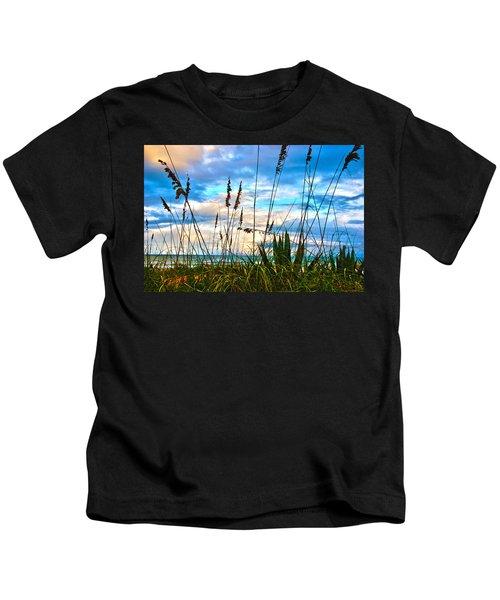 November Day At The Beach In Florida Kids T-Shirt