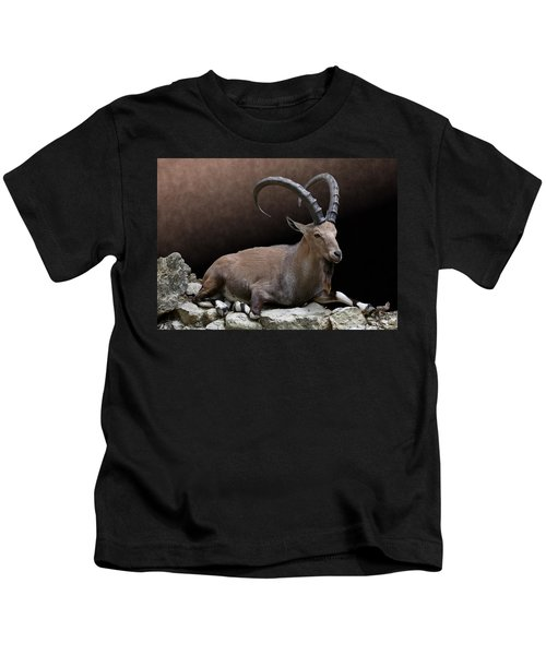 Nubian Ibex Portrait Kids T-Shirt