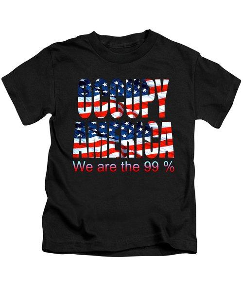 Occupy America 99 Percent Design Kids T-Shirt