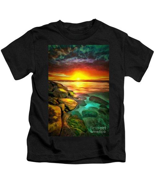 Ocean Lit In Ambiance Kids T-Shirt