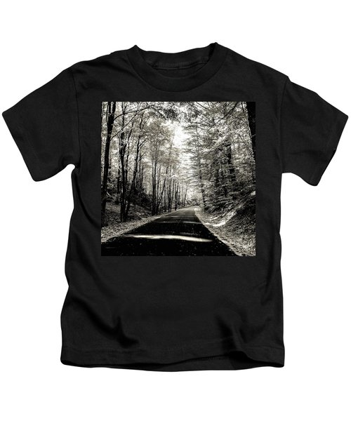 October Grayscale  Kids T-Shirt