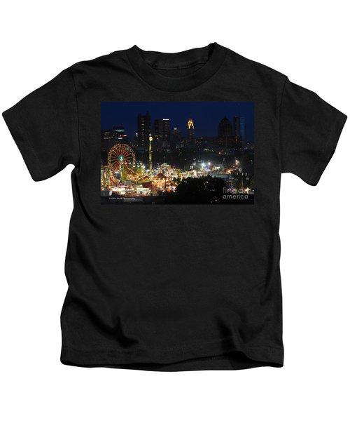 D3l-464 Ohio State Fair With Columbus Skyline Kids T-Shirt