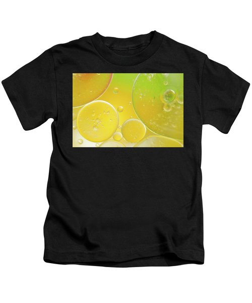 Oil And Water Bubbles  Kids T-Shirt