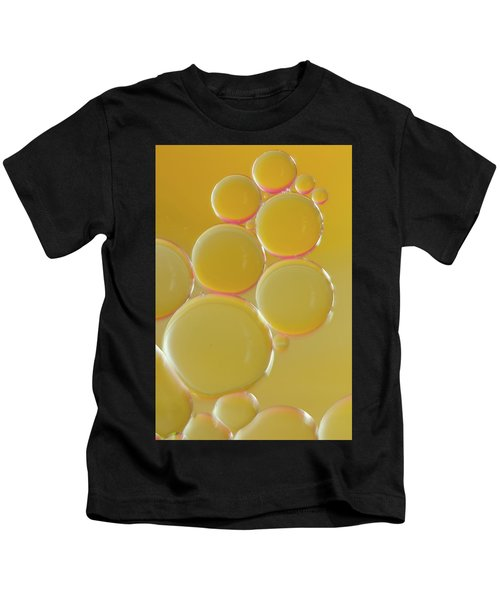 Oil Bubbles On Water Abstract Kids T-Shirt
