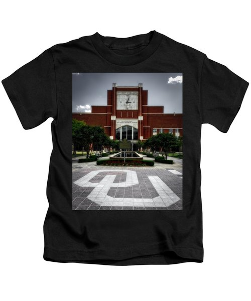 Oklahoma Memorial Stadium Kids T-Shirt by Center For Teaching Excellence